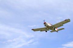 Plane landing Stock Photography