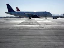 Plane after landing. Royalty Free Stock Image