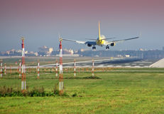 Plane Landing Royalty Free Stock Photo