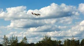Plane Landing Stock Photo