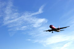 Plane landing Royalty Free Stock Photography