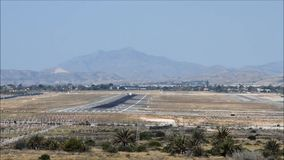 Plane Landing At Alicante Airport stock footage