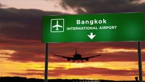 Plane landing in Bangkok