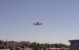Plane Landing City Royalty Free Stock Photo