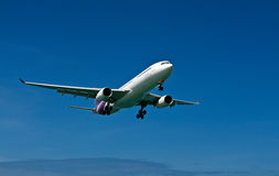 Plane with landing gear Royalty Free Stock Photos