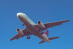 Plane landing Stock Photography