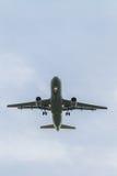 Plane landing Royalty Free Stock Image