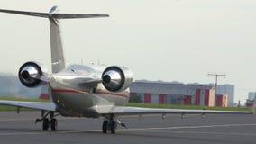 Plane on landing strip stock video