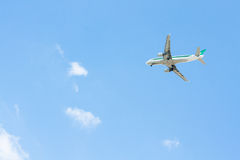 Plane lands Royalty Free Stock Photography