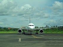 Plane at Legaspi airport Stock Photos