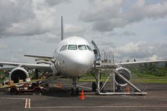 Plane at Legaspi airport Royalty Free Stock Photo