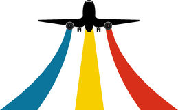 Plane logo. Illustration art of a plane logo with isolated background Stock Images