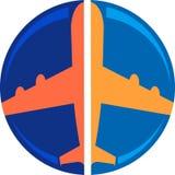 Plane logo Stock Images