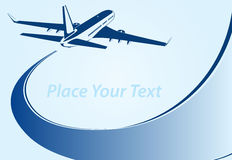 Plane logo abstract lines Vector illustration Royalty Free Stock Photos