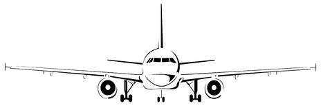 Plane logo abstract lines Vector illustration Stock Photo