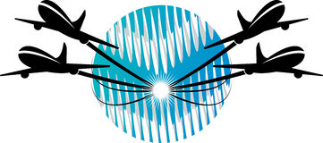 Plane logo. Illustration art of a plane logo with isolated background Royalty Free Stock Image
