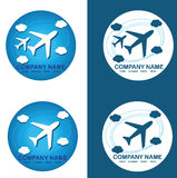 Plane logo. An illustration with different plane logos Royalty Free Stock Image
