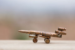 Plane made with bullets Stock Images