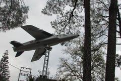Plane monument stock photo
