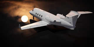 Plane and moon Royalty Free Stock Images
