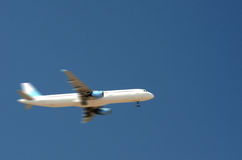 Plane in motion. Small airplane in motion - landing Stock Photography