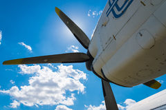Plane Motor with Propeller Royalty Free Stock Images