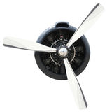 Plane Motor with Propeller Stock Photos