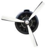 Plane Motor with Propeller stock photos