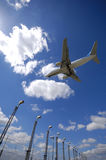 Plane Near Airport Stock Image