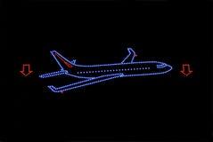 Plane neon Stock Image