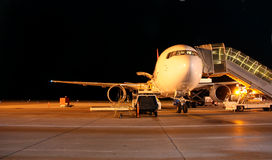 Plane night shot Stock Image