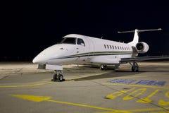 Plane at night Stock Image