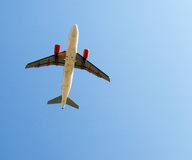 Plane overhead Royalty Free Stock Photos