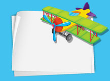 Plane paper. Illustration of a green plane on white Royalty Free Stock Images