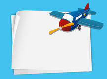 Plane paper Stock Image