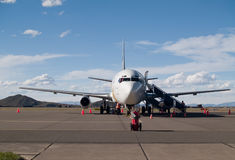 Plane parked at the airport. In Arequipa, Peru Royalty Free Stock Photography