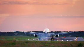 Plane passes overhead stock footage