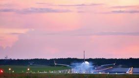 Plane passes overhead stock video footage