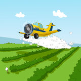 Plane and pesticides Royalty Free Stock Image