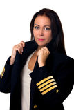 Plane pilot woman Stock Image
