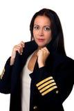 Plane pilot woman Stock Image