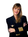 Plane pilot woman Royalty Free Stock Photo