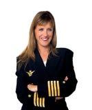 Plane pilot woman Stock Photo