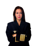 Plane pilot woman Royalty Free Stock Photography