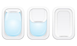 Plane porthole  illustration Stock Photography