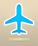 Plane postcard illustration Stock Image