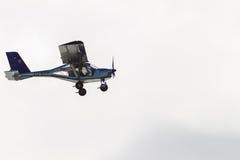 Plane Prop Pilot Low Flying Stock Image