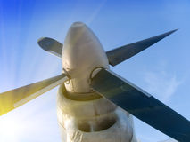 Plane propeller Royalty Free Stock Photo