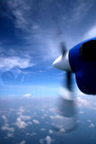 Plane Propeller. A Plane Propeller in motion above the clouds Stock Images
