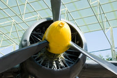 Plane propeller Royalty Free Stock Photos